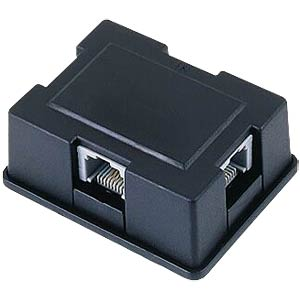 ISDN S0 bus splitter, 1-3, black FREI