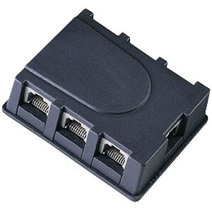 ISDN S0 bus splitter, 1-6, black FREI