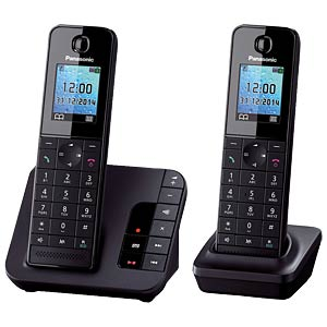 DECT cordless telephone set with answering machine PANASONIC KX-TGH222GB