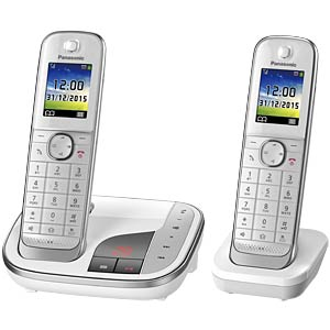 Premium telephone with answering machine and colour display PANASONIC KX-TGJ322GW