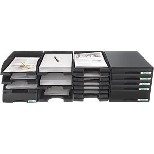 Briefkorb A4 Plus, flach, schwarz LEITZ 52370095