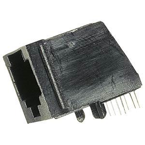 Modular-Einbaubuchse 4/4, schwarz FREI