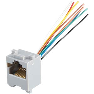 Modular panel jack 8/8 with connection cables FREI