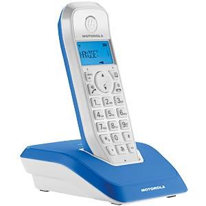 DECT Telefon, 1 Mobilteil mit Ladeschale, blau MOTOROLA 190214