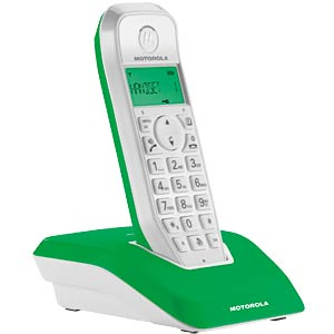 DECT Telefon, 1 Mobilteil mit Ladeschale, grün MOTOROLA 190212