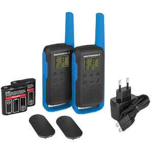 PMR Funkgerät, 2-er Set, blau MOTOROLA B6P00811LDRMAW