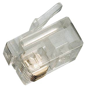 RJ11 modular plug, contacts 6, fitted 4 FREI