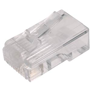 RJ45 modular plug for round cables, 8/4 FREI