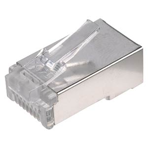 RJ45 modular plug for round cables, 8/8, shielded FREI
