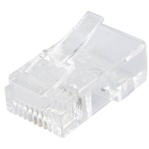 RJ45 modular plug, contacts 8, fitted 4 FREI