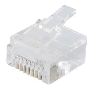 RJ45 modular plug, short, 8/8 FREI 75051-S