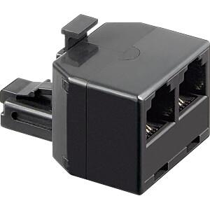 Modular-Adapter 6/4, 1 Stecker auf 2 Buchsen FREI