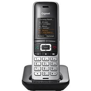 DECT Telefon, 1 Mobilteil mit Ladeschale, platin/ schwarz GIGASET COMMUNICATIONS S30852-H2669-B101