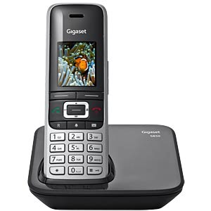 DECT-Telefon, Ladeschale, platin/schwarz GIGASET COMMUNICATIONS S30852-H2605-B101