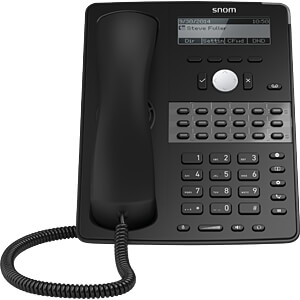 IP-Tischtelefon, schnurgebunden, schwarz SNOM 3916