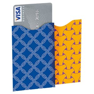 RFID Protection Sleeves, Card Color Blue Vertical SOOMZ.IO RS C CL BL VT