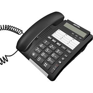 Schnurgebundenes Telefon, schwarz SWITEL TF535