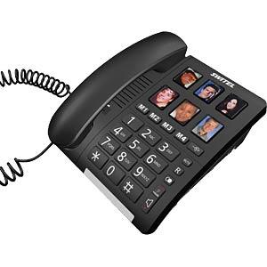Telefon, schnurgebunden, schwarz SWITEL TF540