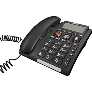 Telefon, schnurgebunden, schwarz SWITEL TF550