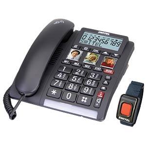Schnurgebundenes Telefon, schwarz SWITEL TF560