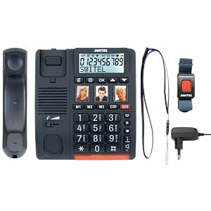 Telefon, schnurgebunden, schwarz SWITEL TF560
