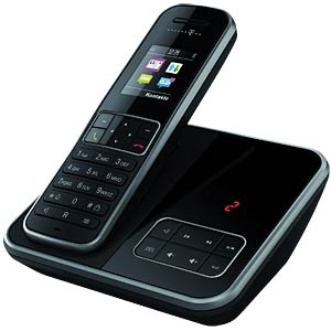 DECT telephone black, AM TELEKOM 40266557