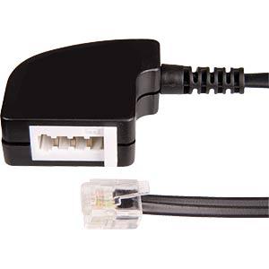 TAE Adapterkabel, N Buchse / Modular Stecker, 0,2 m FREI
