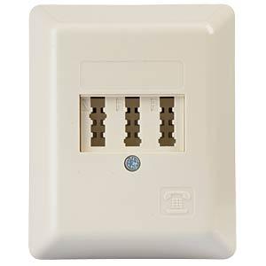 TAE socket, N/F/F-coded, surface-mounted ZE KOMMUNIKATIONSTECHNIK 1-672.05.5.09