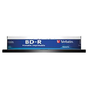 Blu-ray disc/25 GB/printable/spindle of 10 VERBATIM 43804