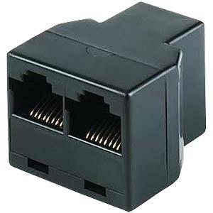 Modular-Adapter mit drei Buchsen, schwarz FREI
