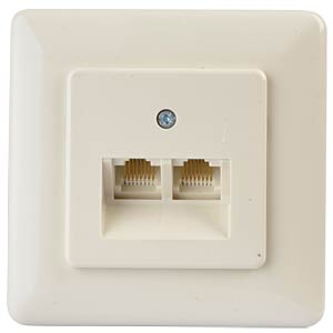 Western-Uni double socket, single-wired, flush-fitted ZE KOMMUNIKATIONSTECHNIK 1-628.43.8.01