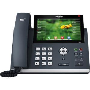 VoIP Telefon, schnurgebunden, schwarz YEALINK SIP-T48S