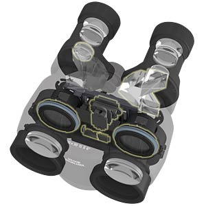 Portable 10x binoculars with Image Stabilizer CANON 9525B005AA