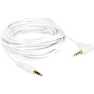 Audio Kabel, 3,5 mm 4-pin Klinkenstecker, gewinkelt, 5 m DELOCK 84744