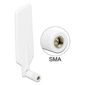 LTE/ZigBee aerial, SMA, white, joint DELOCK 88979