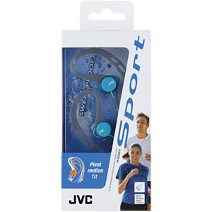 Inner ear headphones for running / blue JVC HAECX20AE