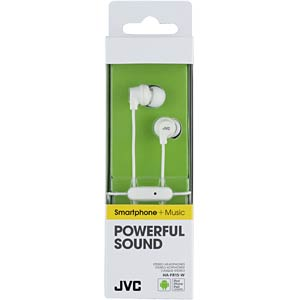 In-Ear hoofdtelefoon/wit JVC HAFR15WE