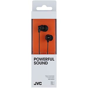 Inner ear headphone/ black JVC HAFX10BE