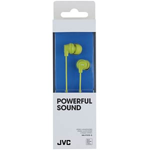 Inner ear headphone/ green JVC HAFX10GE