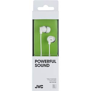 In-Ear hoofdtelefoon/wit JVC HAFX10WE