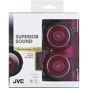 On-Ear Kopfhörer / rot JVC HASR225RE