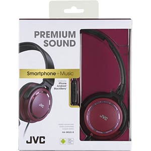 Lightweight headphone / red JVC HASR525RE