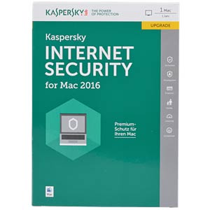 Kaspersky Internet Security - MAC 2016 Upgrade KASPERSKY KL1228GBAFR