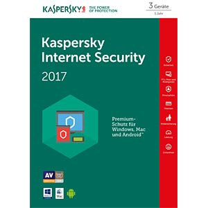 Kaspersky Internet Security 2017 3 Devices KASPERSKY KL1941GBCFS-7