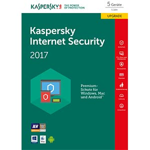 Kaspersky Internet Security 2017 5 Liz. Upgrade KASPERSKY KL1941GBEFR-7