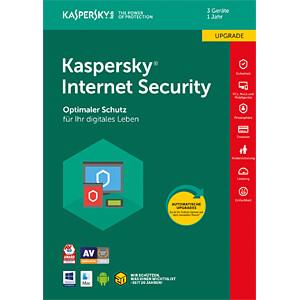 Software, Internet Security 2018, 3 Lizenzen, Upgrade KASPERSKY KL1941G5CFR-8