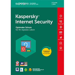 Software, Internet Security 2018, 5 Lizenzen KASPERSKY KL1941G5EFS-8
