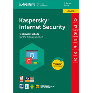 Software, Internet Security 2018, 5 Lizenzen, Upgrade KASPERSKY KL1941G5EFR-8