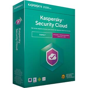 Software, Security Cloud Family Edition, 20 Lizenzen KASPERSKY KL1925G5NFS