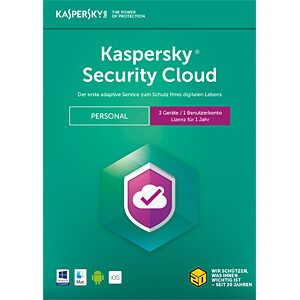 Software, Security Cloud Personal Edition, 3 Lizenzen KASPERSKY KL1923G5CFS